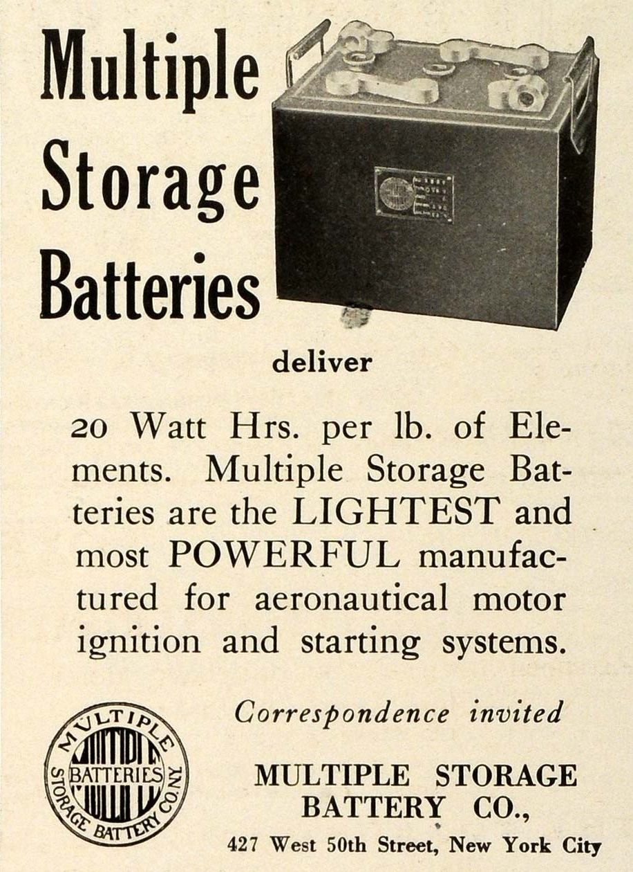 1918 Multiple Storage Battery Co