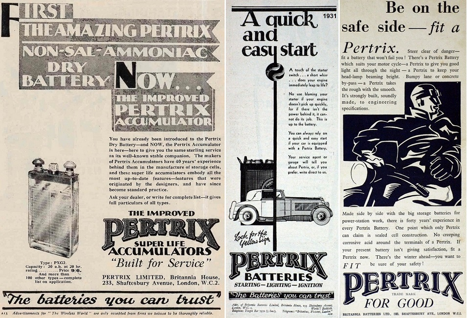 1930 31 33 Pertrix batteries