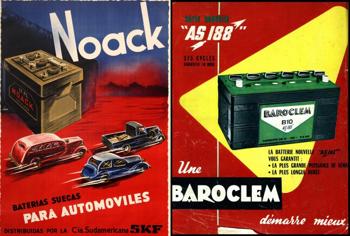 1930 Noack Car Batteries Sweden