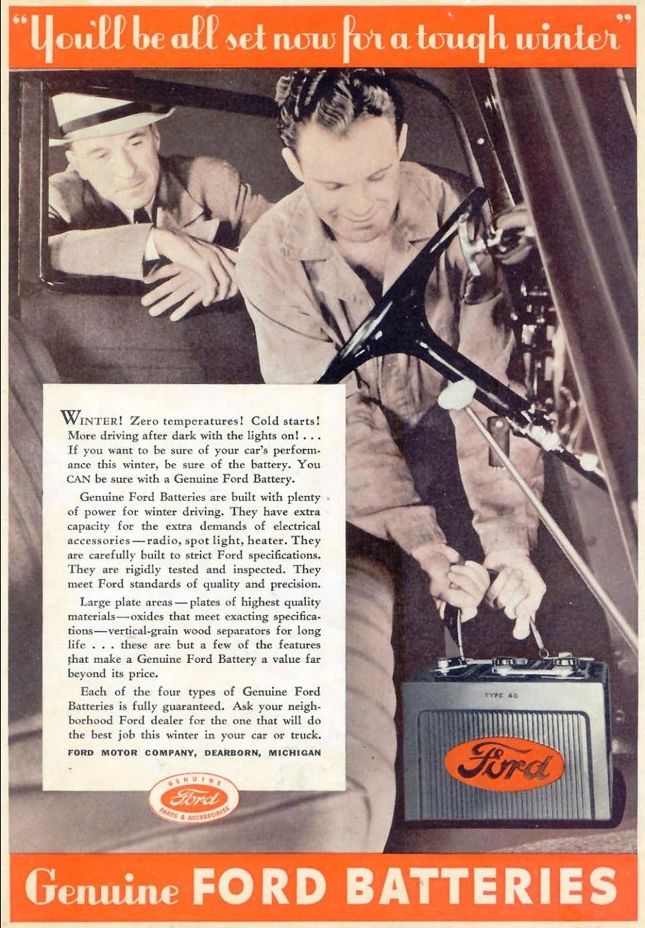 1936 ford batteries
