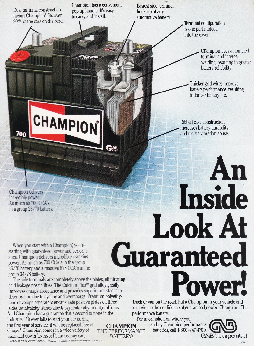 1995 champion battery made by gnb