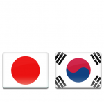 Japan & korea Flag